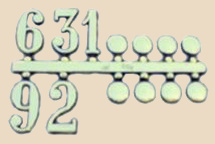 Arabic numbers with dots at Tom's